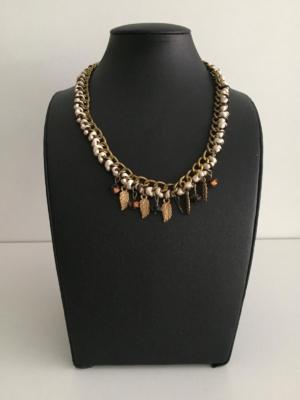 Modeschmuck Halskette Collier mit Federn