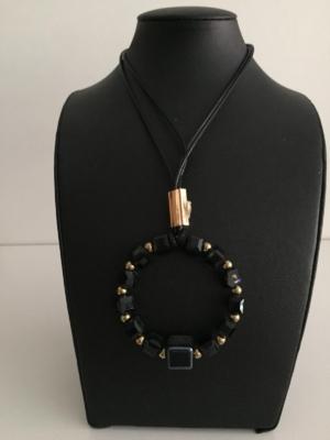 Modeschmuck Halskette mit Anhänger Kreis