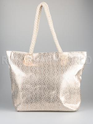 Schopper Tasche Strandtasche -Mäander -geometrisches Muster