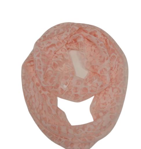 Loop-Schal leicht transparent rosa