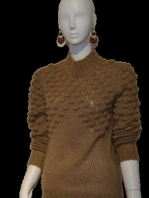 Asymmetrischer hochgeschlossener Pullover von Rinascimento