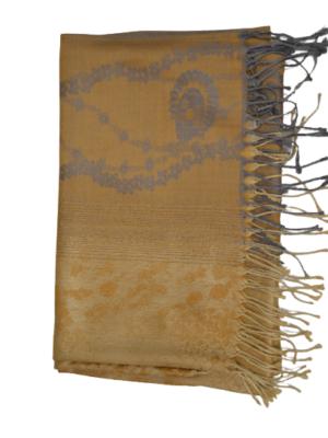 Schal mit Ornamente-und Blumenmuster