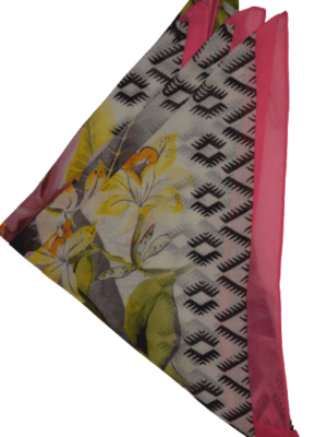 Quadratischer Schal mit Blumen-Muster