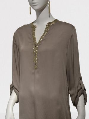 Italy Tunika Longbluse Fischerhemd