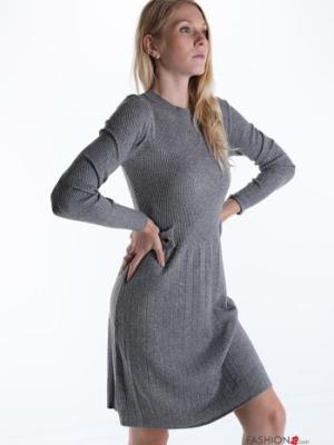 Kleid Elegant - Grau Gr.36/38