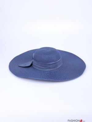 Hut mit Schleife - Blau -