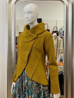 Senf/Gelb Jacke Wollmischung