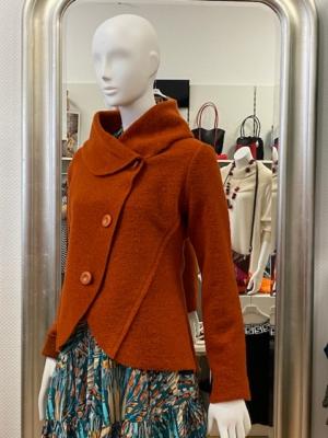 Jacke aus Wollmischung - Ziegelrot
