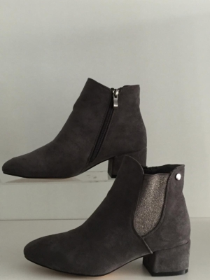 Graue Ankle Boots