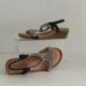 Damen Sandaletten Glitzersteine schwarz