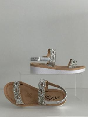 Sandalen Silber Weiß