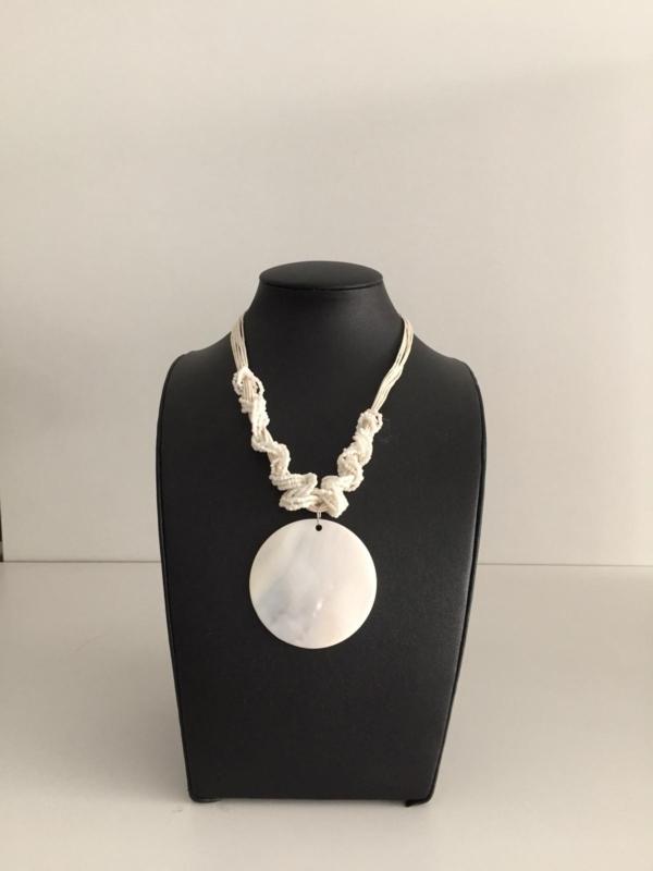 modeschmuck halskette perlmutt