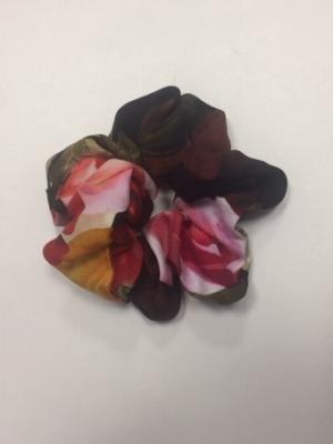 Scrunchie Haargummi Haar-Styling-Accessoire Blumenprint Rosen