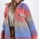 Jacke aus Wollmischung - Farbiges Muster