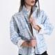 New Arrival: Jacke mit Reißverschluss -Abstraktes Muster - Himmelblau