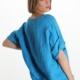 Italy Tunika Bluse aus 100% Leinen - Hellblau -