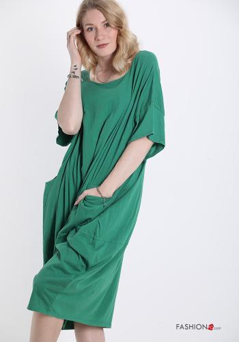 Casual Kleid Smaragdgrün