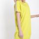 Kleid aus Baumwolle mit Pailletten - Gelb - Gr. M/L