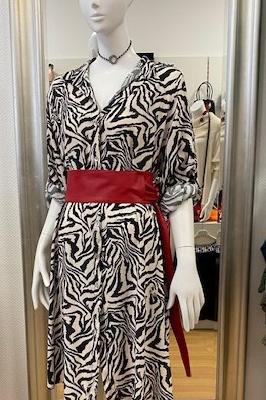 Kleid /Blusenkleid mit abstraktem Print Gr. XL/XXL