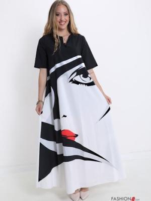Italy Kleid mit Druck-Print abstraktes Muster -Kunst -
