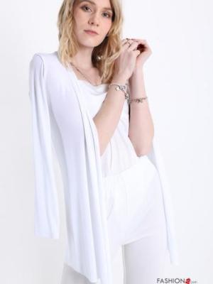 Lässig Strickjacke - Weiß