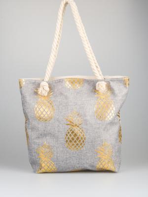Schopper Tasche Handtasche Strandtasche -Ananas-