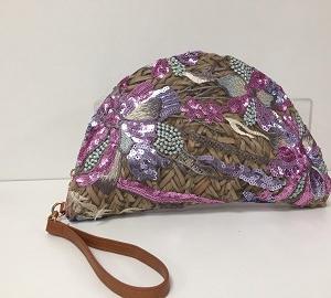 Rattan Handtasche Lila