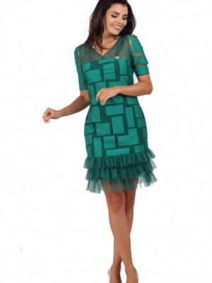 Kleid grün Tüll