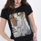 Italy T-Shirt aus Baumwolle mit Hund und Fahrrad- Print