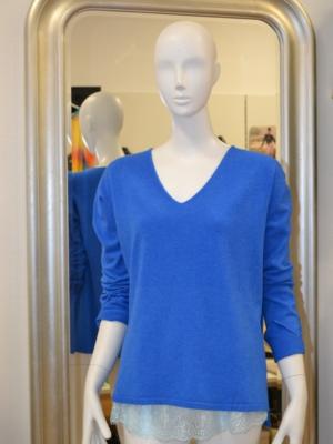 VIA MILANO Feinstrickpullover Blau