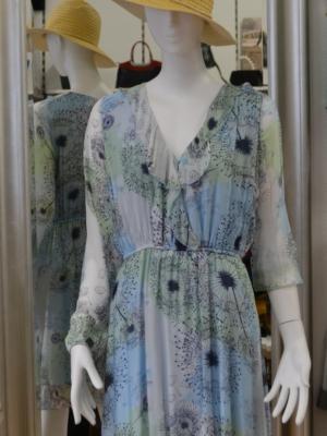 Seidenkleid von VIA MILANO mit Blumenprint