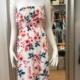 Damenkleid Carmenkleid mit Blumenprint