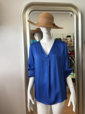 Italy Tunika Bluse Via Milano - blau - Gr. S/M