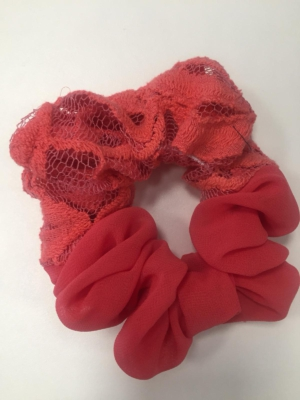Scrunchie Haargummi Haar-Styling-Accessoire Spitze Rot
