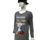 Print-Kleid, Longtunika in grau