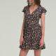 Sommerkleid mit V-Ausschnitt, Volants und Blumenprint